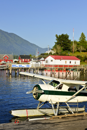 Sea plane at dock in Tofino, Vancouver Island, Canada stock photo, Seaplane at dock in Tofino on Pacific coast of British Columbia, Canada by Elena Elisseeva