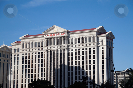 Ceasers Palace Hotel and Casino stock photo, December 30th, 2009 - Las Vegas, Nevada, USA - One of the hotel room towers of Ceasers Palace Hotel and Casino on Las Vegas boulevard by Kevin Tietz