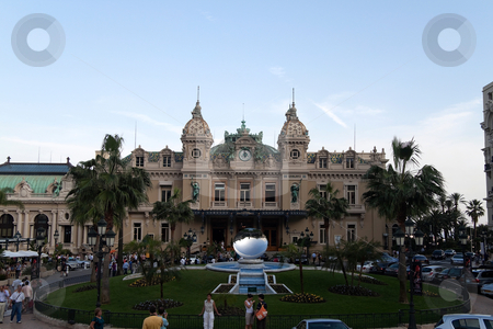 Monte Carlo Casino stock photo, October 1st, 2009  Monte Carlo district, Monaco - A view of the facade of the famous casino Monte Carlo which is known for its high rollers and celebrities.  by Kevin Tietz