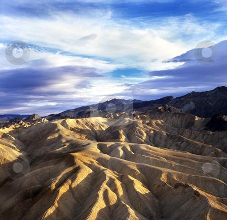 Death Valley California. stock photo, Death Valley Zabriske Point. by WScott