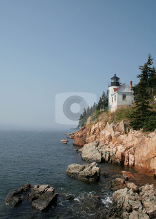 Bass Harbor Head Lighthouse stock photo, The Bass Harbor Head Lighthouse, in Acadia National Park, Maine, USA. by Chris Hill
