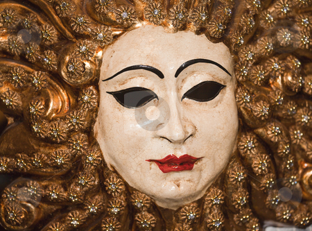 Carnival mask stock photo, Photo of a typical carnival mask in Venice by Sabino Parente