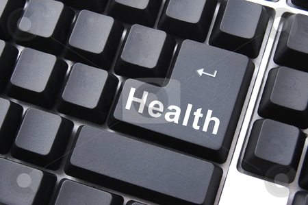 Health stock photo, healthy lifestyle shown by health computer button      by Gunnar Pippel