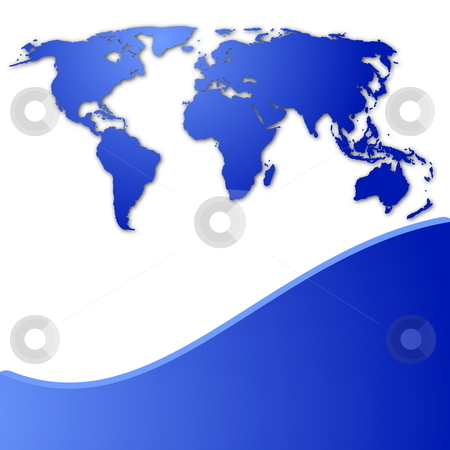 Globe stock photo, global technology concept with world map and copyspace by Gunnar Pippel