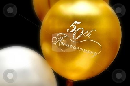 Anniversary Balloons stock photo, 50th anniversary balloons by Karma Shuford
