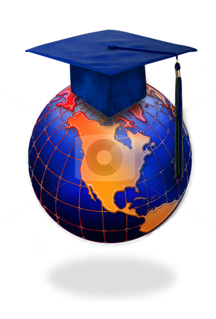 Graduation stock photo, Graduation is being on top of the world. by WScott