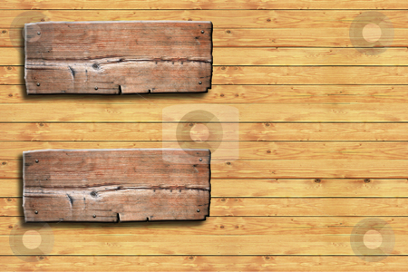 Wooden signboard stock photo, Wooden signboard by rufous
