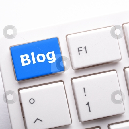 Blog key stock photo, blog key on keyboard showing internet communication concept by Gunnar Pippel