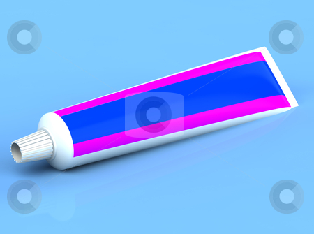 3d rendered toothpaste stock photo, 3d rendered toothpase on the blue background by vetdoctor