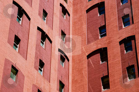 Office Building stock photo, Office buildings in the city with a close up view by Vividrange