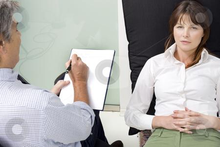 Psychiatrist with patient stock photo, psychiatrist with patient by ambrophoto