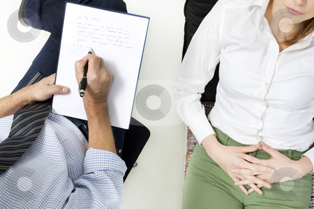 Psychiatrist with patient stock photo, psychiatrist with patient by ambrophoto