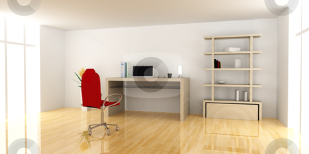 Private office stock photo, A office workplace. 3D rendered Illustration.  by Michael Osterrieder