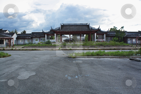 Florida Splendid China (2) stock photo, A failed tourist attraction, owned indirectly by the communist Chinese government, closed in 2003 and now lies in ruins. by Carl Stewart