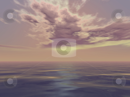 Beautiful seascape stock photo, Beautiful seascape in 3d render illustration. by Edvard Molnar