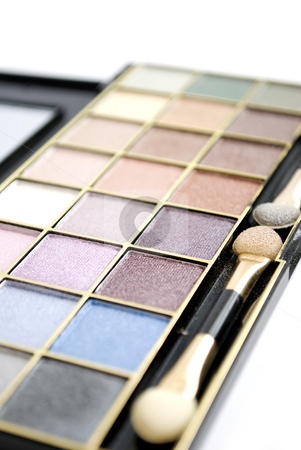 Eyeshadows stock photo, eyeshadows palette isolated on white background by Desislava Dimitrova