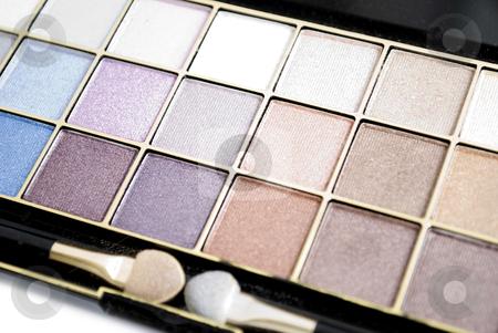 Eyeshadows stock photo, eyeshadows palette isolated on white background by Desislava Dimitrova