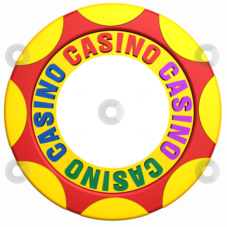 Casino chip  stock photo, 3d illustration of casino chip by bobyramone
