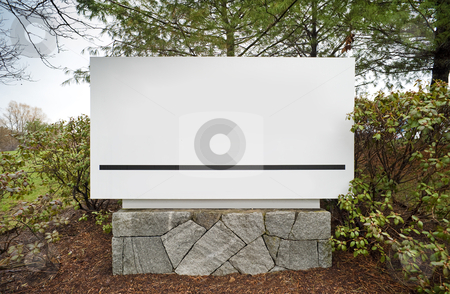 Office building sign stock photo, Sign to office building complex in industrial park by Christian Delbert