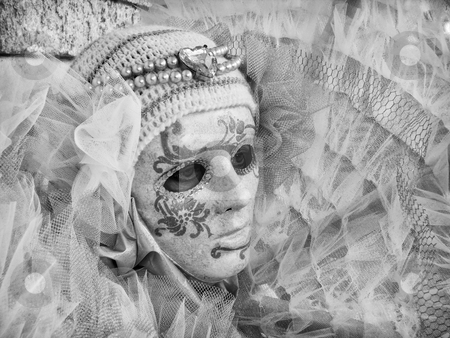 Venice Carnival stock photo, mask at the Venice Carnival by freeteo