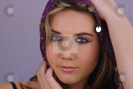 Beautiful Teen Girl Headshot (5) stock photo, Studio headshot of a lovely teenage girl. by Carl Stewart