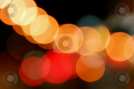 Traffic lights stock photo, Out of focus city traffic lights at night. Abstract background. by sirylok