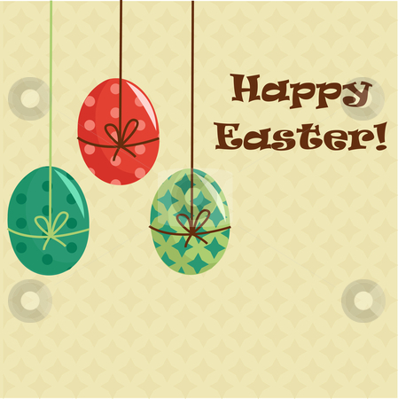Easter greeting card  stock photo, Easter greeting card vector illustration by kariiika