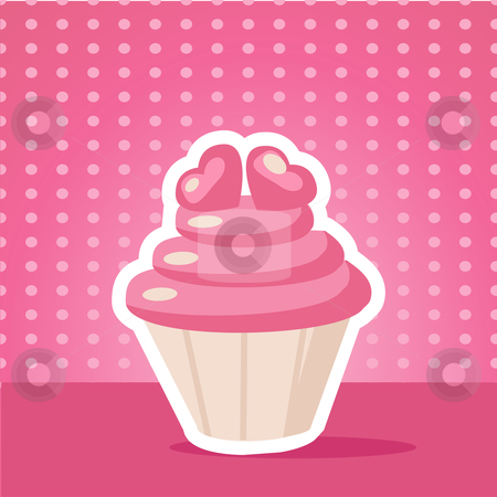 Vintage cupcake background  stock photo, Vintage cupcake background vector illustration by kariiika