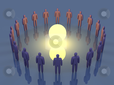 Teamspirit Evocation stock photo, Evocating the Teamspirit.  by Michael Osterrieder