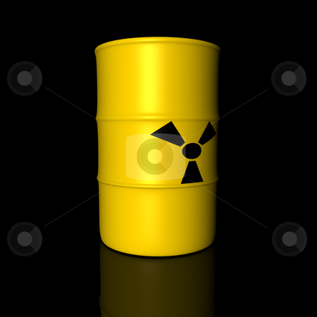Radioactive Barrel  stock photo, Barrel filled with radioactive Trash. 3D rendered Illustration.  by Michael Osterrieder
