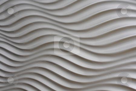 White artistic background stock photo, White artistic background whit stripes and waves by Roberto Giobbi
