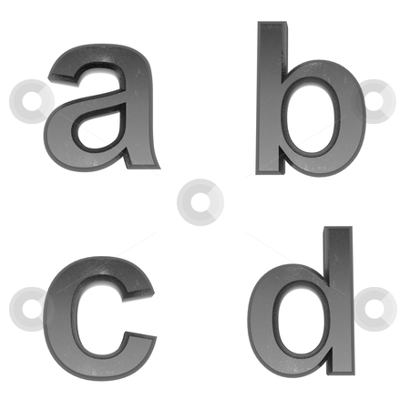 3d alphabet a in metal, on a white isolated background. stock photo, 3d alphabet a in metal, on a white isolated background. by mg1408