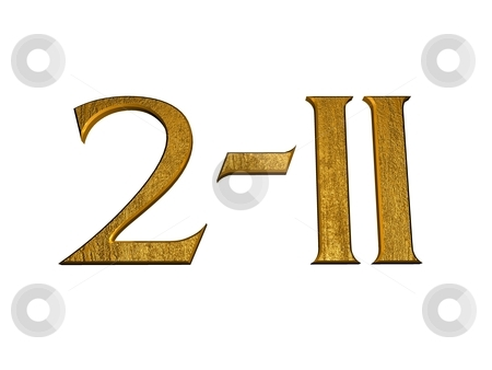 3d Golden Normal Numbers And With Roman Numeral Stock Photo