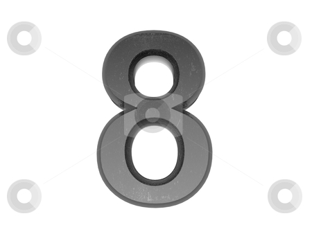 3d metal numbers , in metal on a white isolated background.  stock photo, 3d metal numbers , in metal on a white isolated background.  by mg1408
