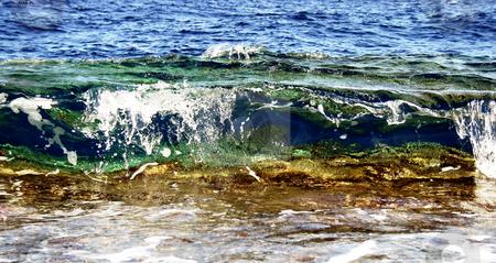 Waves in Mediterranean sea stock photo, Waves in Mediterranean sea, Israel by Tatjana Keisa
