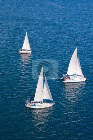 Regatta in indian ocean stock photo, Regatta in indian ocean, sailboat and catamaran by Pierre-Yves Babelon
