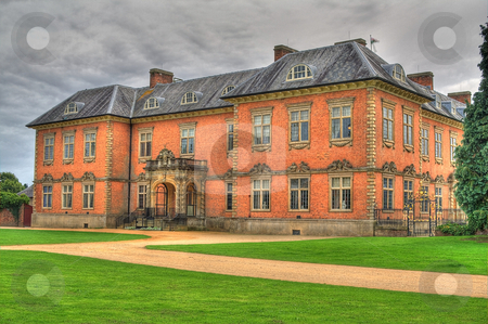 Seventeenth Century Stately Home Tredegar House stock photo, An HDR image of the seventeenth century stately home tredegar house which is a first class example of a red brick mansion by Mike Price
