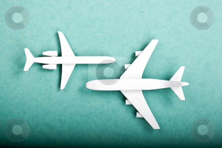 Airplane stock photo, some plane on green background by wisiel