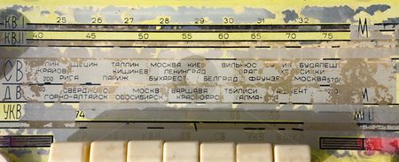 Scale of the ancient Russian radioreceiver stock photo, Scale of the ancient Russian radioreceiver by Alexey Romanov