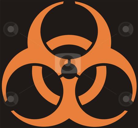 Biohazard stock photo, Biohazard - an orange emblem on a black background by Alexey Romanov