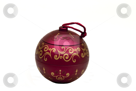 Red Jar stock photo, Red candy jar isolated on a white background by Arvind Balaraman