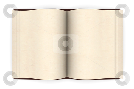 Antique Book stock photo, An antique Book. 3D rendered Illustration. Isolated on white. by Michael Osterrieder