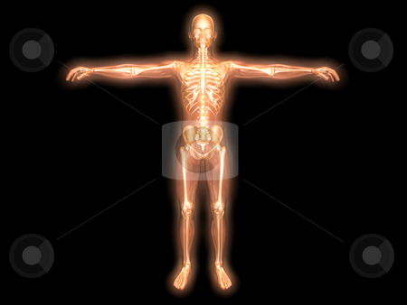 Energy body stock photo, 3D rendered visualization of the energy / astral body. by Michael Osterrieder