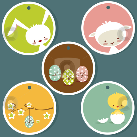 Cute easter tags stock photo, Cute easter tags, with place for your text by kariiika