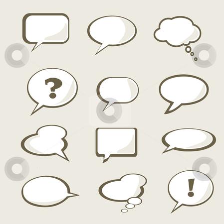 Set of vector speech bubble  stock photo, Set of vector speech bubble with space for your text by kariiika