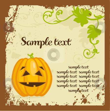 Halloween background with pumpkins stock photo, Halloween background with pumpkins, vector illustration by kariiika
