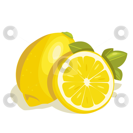 Lemon vector stock photo, lemon vector illustration by kariiika