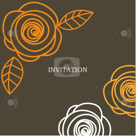 Wedding invitation card  stock photo, wedding invitation card vector illustration by kariiika