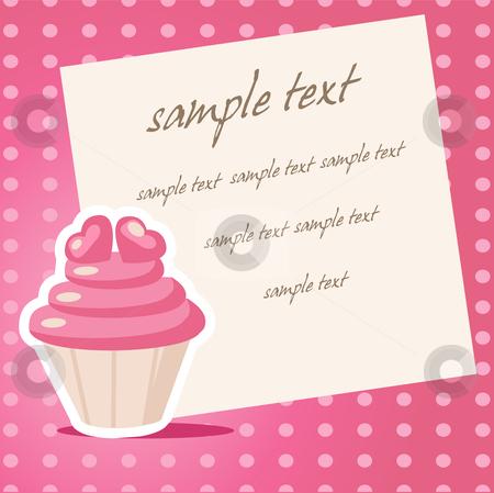 Vintage cupcake background  stock photo, Vintage cupcake background with place for your text by kariiika