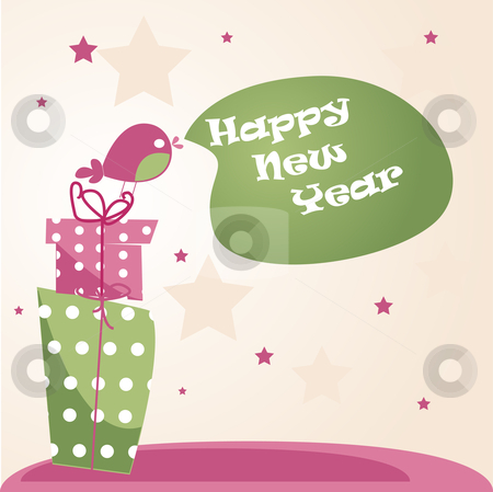 New year's card  stock photo, New year's card vector illustration by kariiika